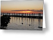 Charming Eveninglight Over Key Largo Greeting Card