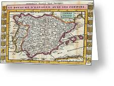 Charming Old World Map Greeting Card