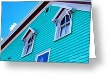 Charming Sleepy Seaside Home Greeting Card by Patricia L Davidson