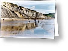 Charmouth Beach Greeting Card