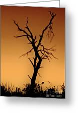 Charred Silhouette Greeting Card