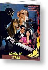 Chart Polski Art - Woman Of Straw Movie Poster  Greeting Card