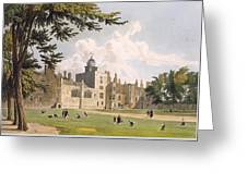 Charter House From The Play Ground Greeting Card