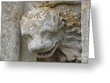 Chartres Cathedral Carved Head Greeting Card