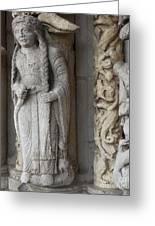 Chartres Cathedral Female Pilgrim Greeting Card