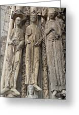 Chartres Cathedral Saints Greeting Card