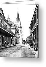 Chartres St In The French Quarter 3 Greeting Card