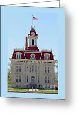 Chase County Courthouse In Kansas Greeting Card