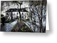 Chat Noir Gallery Paris France Greeting Card