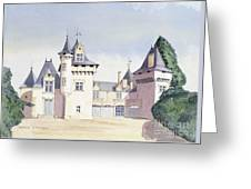 Chateau A Fontaine Greeting Card