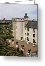 Chateau And Garden - Villandry Greeting Card