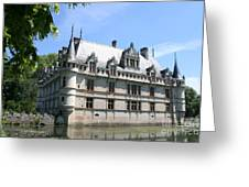 Chateau Azay-le-rideau From The Gardens  Greeting Card