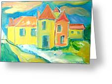 Chateau Greeting Card by Brenda Ruark