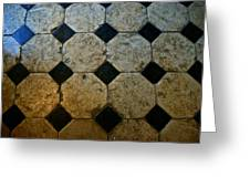 Chateau Brissac's Tile Floor Greeting Card