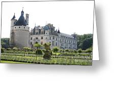 Chateau  Chenonceau And Garden Greeting Card
