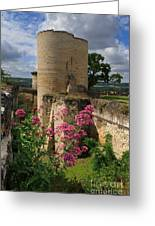 Chateau Chinon In The Loire Valley Greeting Card