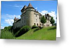 Chateau De Cleron Dans Le Doubs France Greeting Card