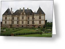 Chateau De Cormatin  And Garden - Burgundy Greeting Card