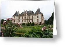 Chateau De Cormatin Garden Greeting Card