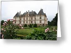 Chateau De Cormatin Garden Greeting Card