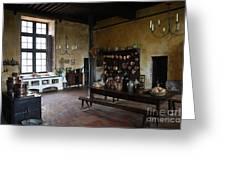 Chateau De Cormatin Kitchen - Burgundy Greeting Card