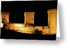 Chateau De Foix At Night Greeting Card