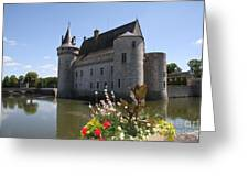 Chateau De Sully-sur-loire And Moat Greeting Card