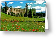 Chateau Lake Louise In Banff Np-alberta Greeting Card