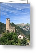 Chatelard Castle Greeting Card
