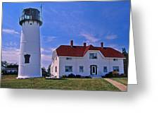 Chatham Light Greeting Card by Skip Willits