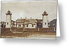 Chatham Twin Lights 1908-18 Greeting Card