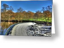 Chatsworth Weir Greeting Card
