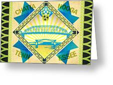Chattanooga Quilt Square 1 Greeting Card