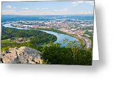 Chattanooga Spring Skyline Greeting Card