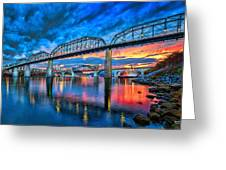 Chattanooga Sunset 3 Greeting Card