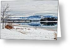 Chatuge Dam Winter Vista Greeting Card