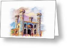 Chauburji Lahore Greeting Card