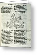 Chaucer: Prologue Greeting Card