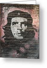 Che Guevara Wall Art In China Greeting Card