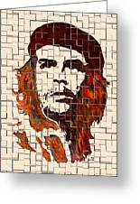 Che Guevara Watercolor Painting Greeting Card