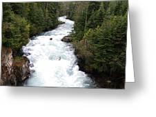 Cheakamus Lake Source - Whistler Greeting Card