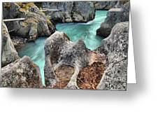 Cheakamus River Channel Greeting Card