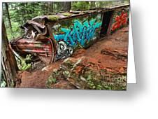 Cheakamus River Train Derailment Greeting Card