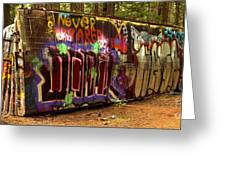 Cheakamus River Train Wreck Greeting Card