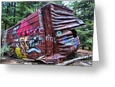 Cheakamus Box Car Graffiti Greeting Card