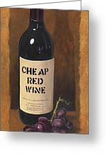 Cheap Red Wine Greeting Card