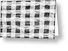 Checked Cloth Greeting Card