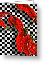 Checker Peppers Greeting Card
