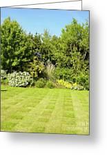 Checkerboard Lawn Greeting Card