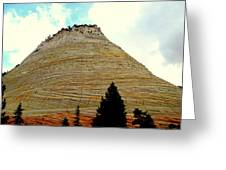 Checkerboard Mesa  Greeting Card by J Allen